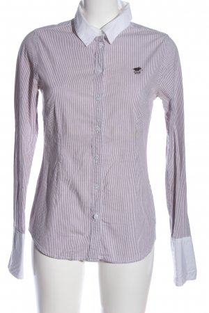 Polo sylt Langarmhemd pink-weiß Allover-Druck Casual-Look