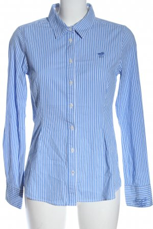Polo sylt Long Sleeve Shirt blue-white embroidered lettering business style