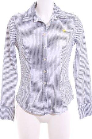 Polo sylt Langarmhemd weiß-blau Streifenmuster Business-Look