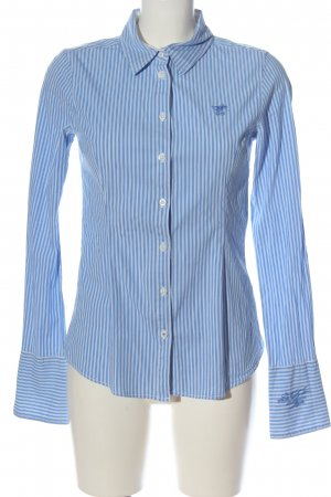 Polo sylt Long Sleeve Shirt blue-white striped pattern business style