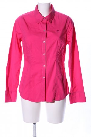 Polo sylt Langarmhemd pink Business-Look