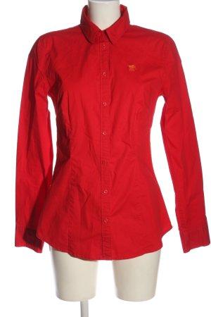Polo sylt Chemise à manches longues rouge style d'affaires