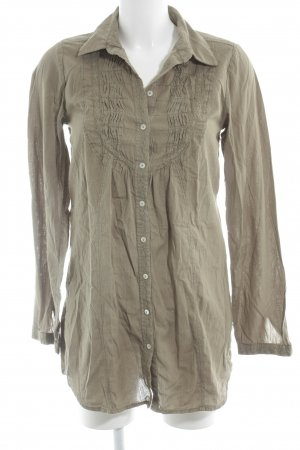 Polo sylt Long-Bluse khaki Casual-Look