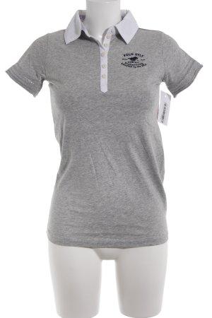 Polo sylt Polo Shirt light grey flecked casual look