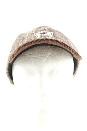 Polo sylt Casquette à visière gris clair-brun motif à carreaux