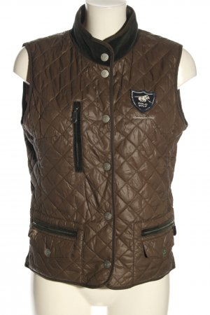 Polo sylt Quilted Gilet brown quilting pattern casual look
