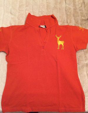 clinique Polo Shirt orange-yellow cotton