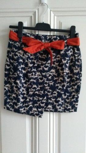 H&M Kopertowa spódnica biały-ciemnoniebieski