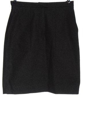 Polo Gonna di lana nero puntinato stile professionale