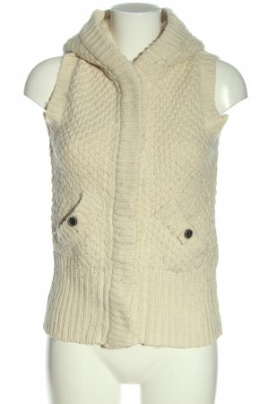 Pologarage Hooded Vest cream casual look