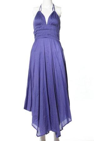 Pologarage Neckholderkleid blau extravaganter Stil