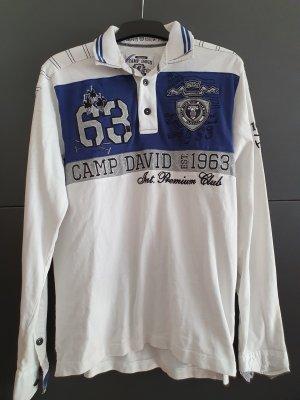 Camp David Polo bianco-blu