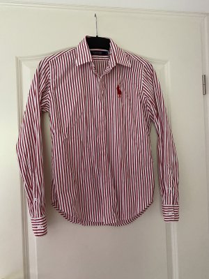 Polohemd- Polo Ralph Lauren- rot/ weiß gestreift