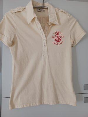 Burberry Camiseta tipo polo crema