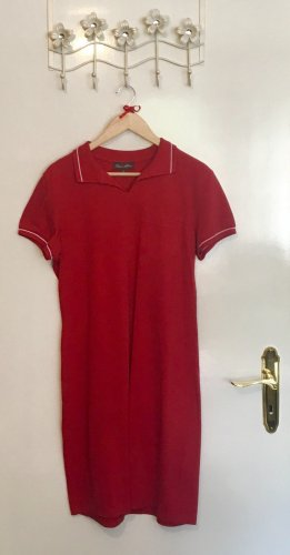 Polo Dress white-red cotton