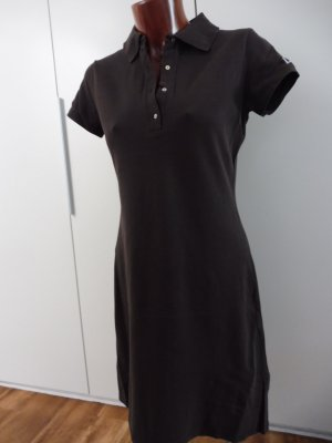 Laurèl Polo Dress dark brown cotton