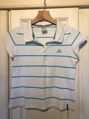 Adidas Koszulka polo biały-turkusowy