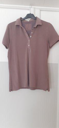 Basefield Polo Shirt dusky pink cotton