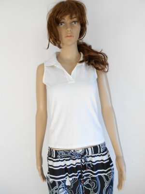 Comma Top Polo bianco