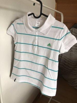 Adidas Koszulka polo biały-jasnoniebieski