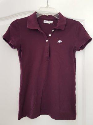 Aeropostale Camiseta tipo polo púrpura