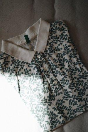Benetton Koszulka polo biały-leśna zieleń