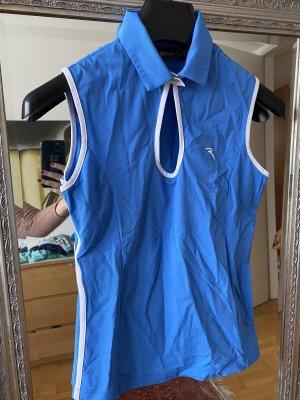 Chervo Polo Shirt white-cornflower blue