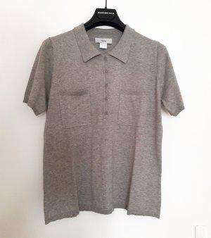Polo shirt grijs-beige Katoen