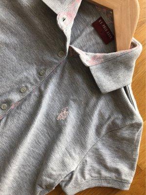 U.s. polo assn. Koszulka polo w kolorze różowego złota-srebrny