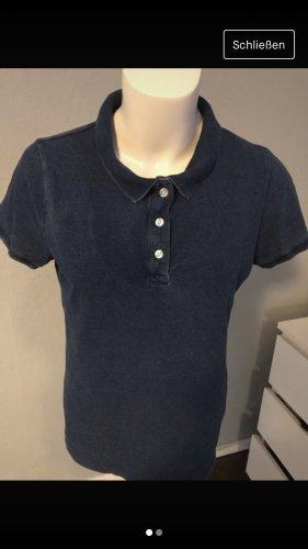H&M Camiseta tipo polo azul-azul oscuro