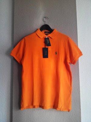 Poloshirt in orange, Custom Fit, Grösse S, neu
