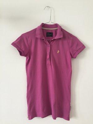 Poloshirt Kurzarm XS rosa/violett Peak Performance Damenpolo