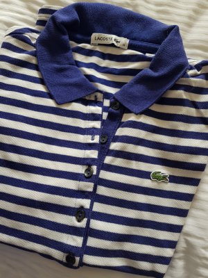 Lacoste Polo shirt wit-donkerblauw