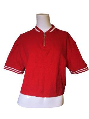 H&M Divided Polo Shirt dark red-carmine