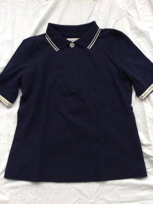 More & More Camiseta tipo polo azul oscuro-blanco