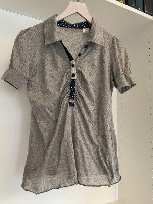 Miss Sixty Camiseta tipo polo gris claro