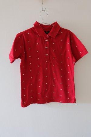 Poloshirt mit aufgestickten Streublumen