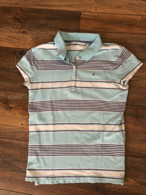 Tommy Hilfiger Camiseta tipo polo azul claro-blanco