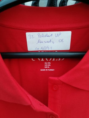 Ulla Popken Camiseta tipo polo rojo