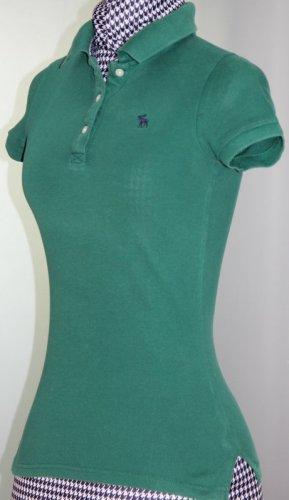 Poloshirt von Abercrombie & Fitch Gr. XS dunkelgrün