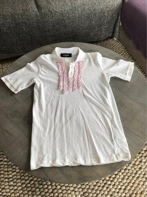 Dsquared2 Polo bianco-rosa