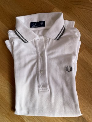Fred Perry Polo Shirt white-silver-colored cotton