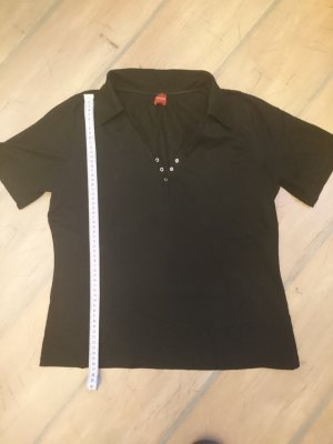 Olsen Polo Shirt black cotton