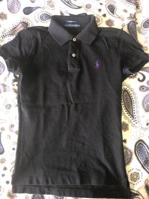 Ralph Lauren Koszulka polo czarny-ciemny fiolet