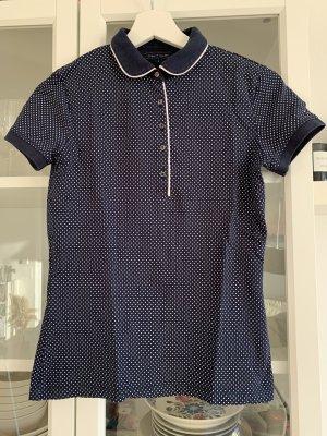 Poloshirt von Tommy Hilfiger, blau/weiß, Gr. S