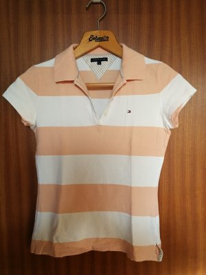 Tommy Hilfiger Polo shirt wit-abrikoos