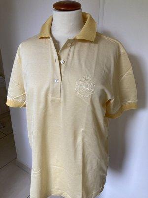 van Laack Polo Shirt pale yellow cotton