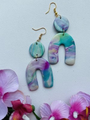 Handmade Statement Earrings multicolored