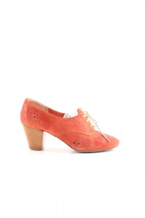 Pomme d'Or Schnür-Pumps hellorange Casual-Look