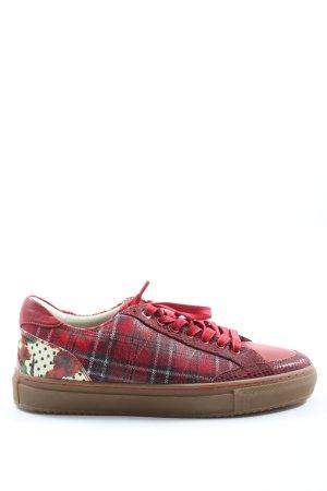 pomp Lace-Up Sneaker animal pattern elegant